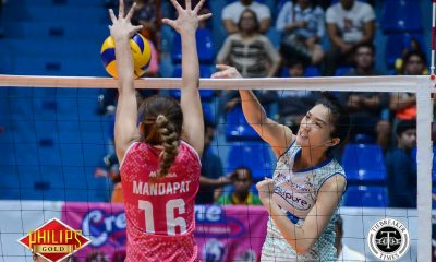 Tiebreaker Times Bali Pure sets up Finals rematch against Pocari Sweat News PVL Volleyball  Roger Gorayeb Pau Soriano Oliver Almadro Lizlee Ann Gata-Pantone Jerrili Malabanan Jasmin Urdas Grethcel Soltones Creamline Cool Smashers Bali Pure Purest Water Defenders Aiko Urdas 2017 PVL Women's Open Conference 2017 PVL Season