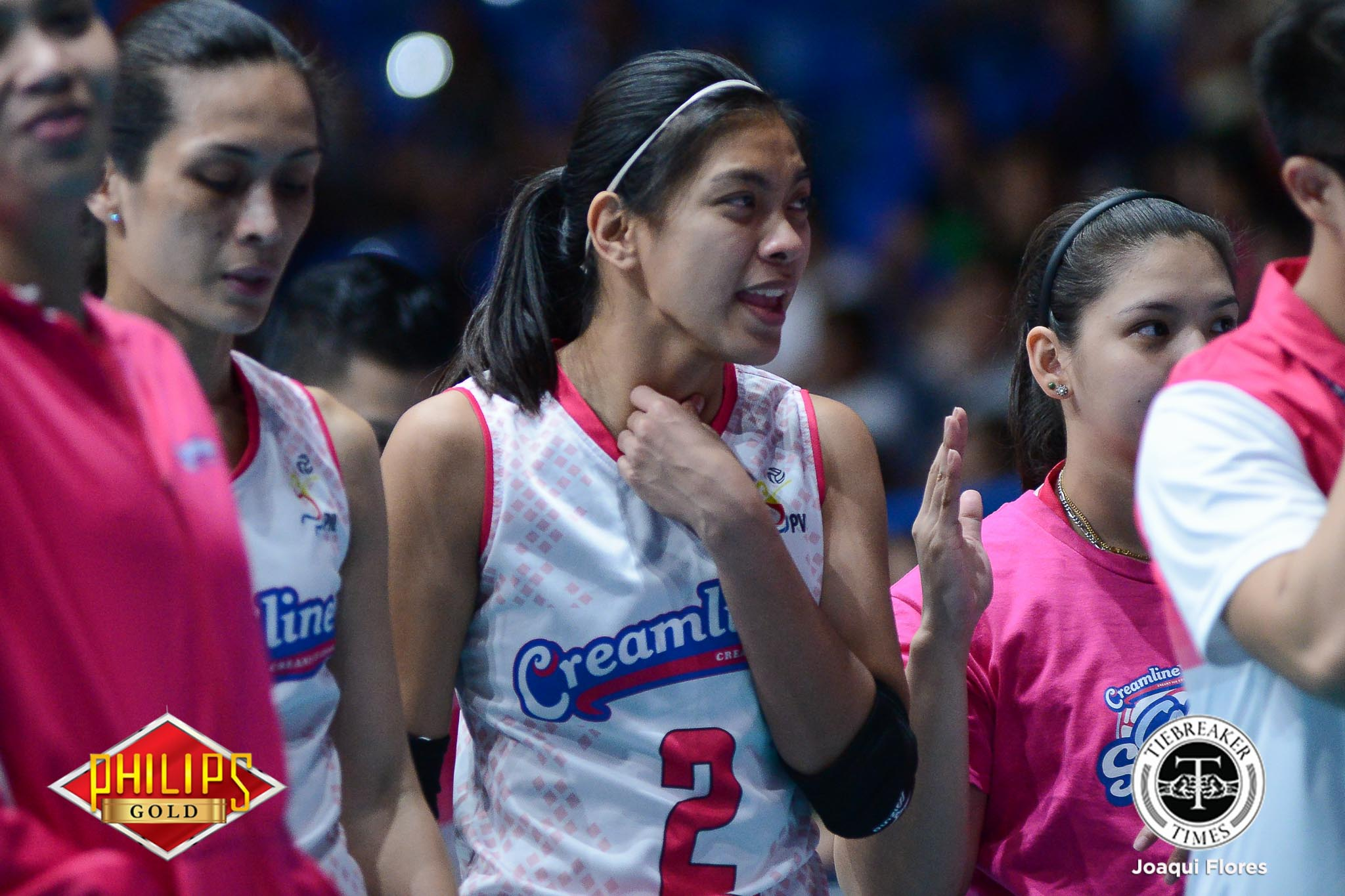 Tiebreaker Times Alyssa Valdez just could not miss the Pinoy Christmas News PVL Volleyball  Creamline Cool Smashers Attack Line Alyssa Valdez 2018 PVL Season
