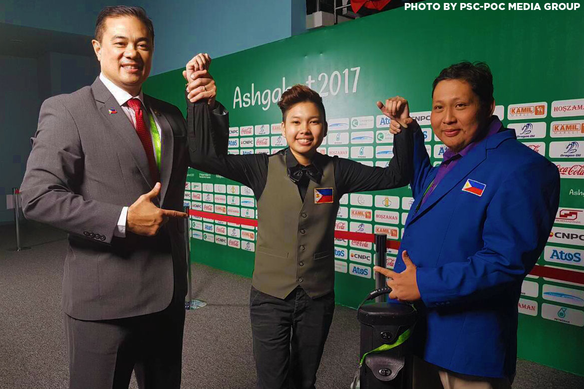 Philippine Sports News - Tiebreaker Times Rodolfo Reyes Jr., Chezka Centeno settle for silver Billiards Bowling News Taekwondo  Rodolfo Reyes Jr Jocel Lyn Ninobla Cheska Centeno 2017 Asian Indoor and Martial Arts Games