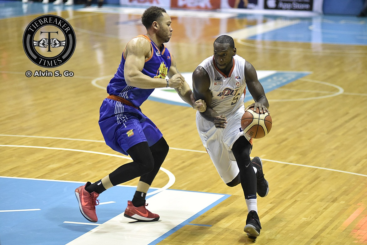 Philippine Sports News - Tiebreaker Times Allen Durham not thinking about Best Import plum: 'Championship is on my mind' Basketball News PBA  PBA Season 42 Meralco Bolts Allen Durham 2017 PBA Governors Cup