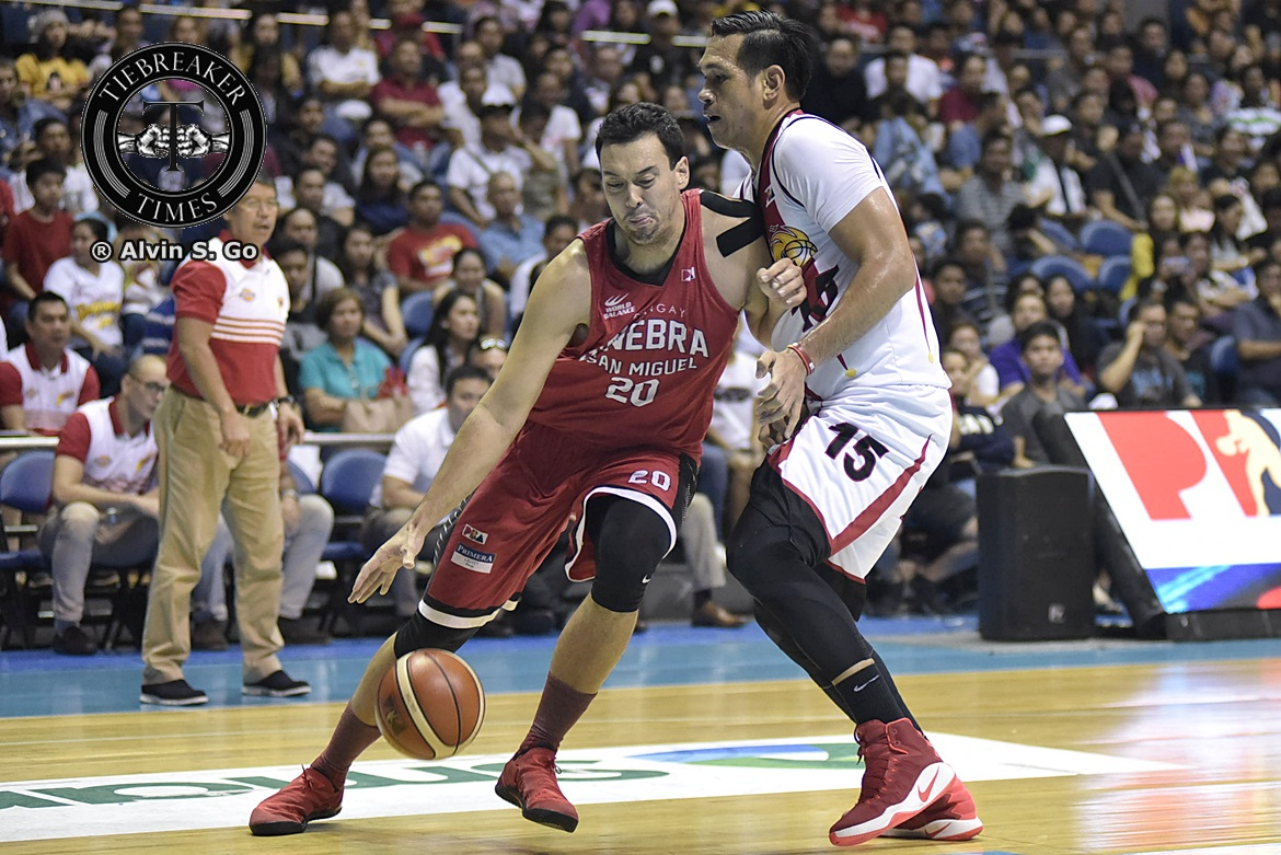Philippine Sports News - Tiebreaker Times Slaughter plays down match-up with Fajardo Basketball News PBA  PBA Season 42 Greg Slaughter Barangay Ginebra San Miguel 2017 PBA Governors Cup