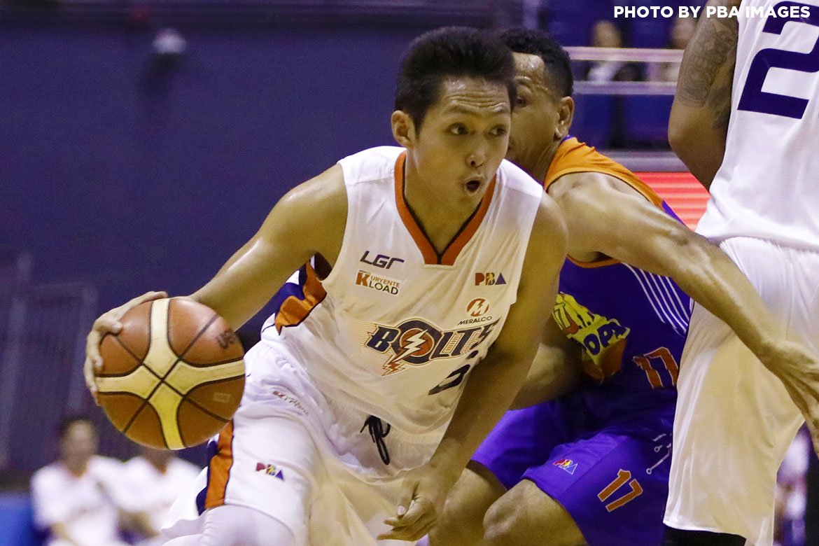 Philippine Sports News - Tiebreaker Times Seizing opportunities leads to Mike Tolomia's career game Basketball News PBA  PBA Season 42 Norman Black Mike Tolomia Meralco Bolts 2017 PBA Governors Cup