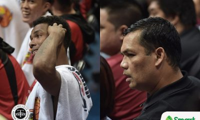 Tiebreaker Times Gabby Espinas, Japeth Aguilar explain sides after heated tussle Basketball News PBA  San Miguel Beermen Peter Aguilar PBA Season 42 Japeth Aguilar Gabby Espinas Barangay Ginebra San Miguel 2017 PBA Governors Cup