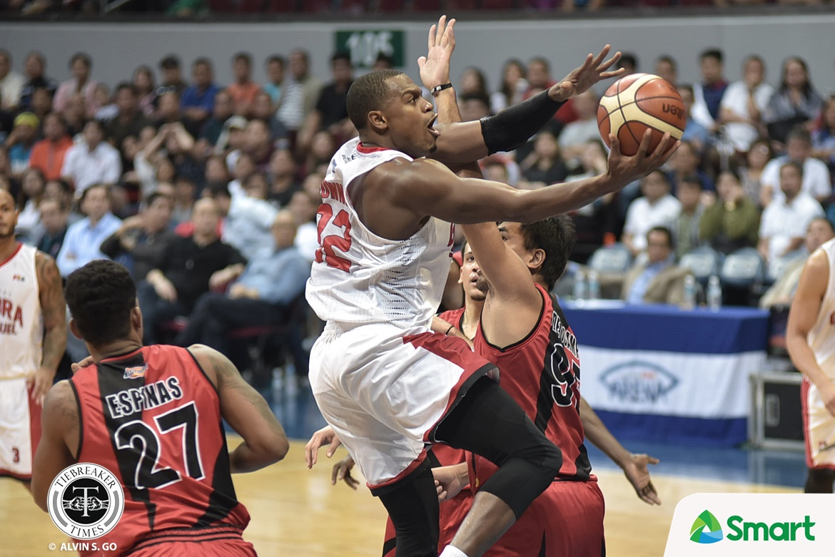 Philippine Sports News - Tiebreaker Times Grand Slam pressure somehow affected SMB, thinks Justin Brownlee Basketball News PBA  PBA Season 42 Justin Brownlee Barangay Ginebra San Miguel 2017 PBA Governors Cup