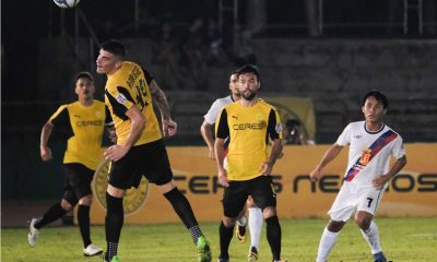 Tiebreaker Times Late Fernando Rodriguez goal saves Ceres' blushes, keeps Aguilas listless Football News PFL  Roland Muller Risto Vidakovic Marko Trkulja James Younghusband Gary Phillips Fernando Rodriguez Davao Aguilas Ceres-Negros FC 2017 PFL Season