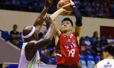 Tiebreaker Times Debuting Allein Maliksi impresses as Blackwater pips Romeo-less Globalport, books final QF seat Basketball News PBA  Terrence Romeo Stanley Pringle Roi Sumang PBA Season 42 Murphey Holloway Mike DiGregorio Henry Walker Globalport Batang Pier Blackwater Elite Allein Maliksi 2017 PBA Governors Cup