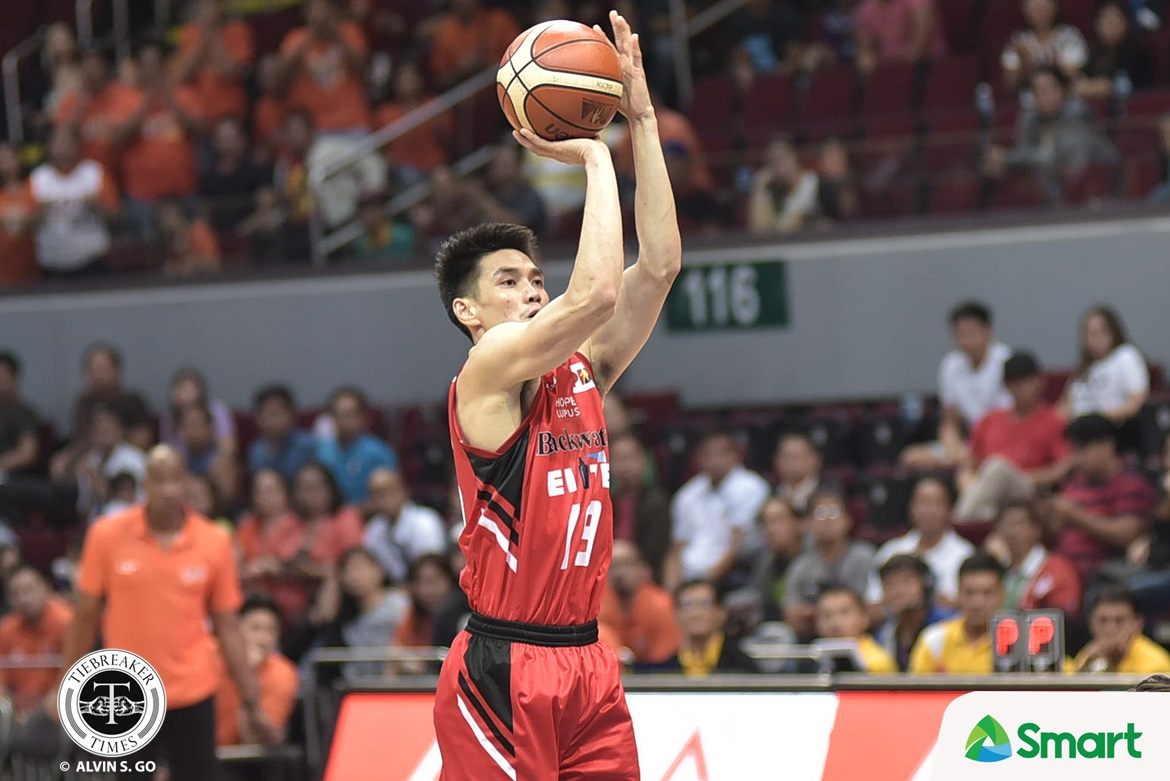 Philippine Sports News - Tiebreaker Times Allein Maliksi's heroics help Blackwater disarm Meralco's twice-to-beat edge Basketball News PBA  PBA Season 42 Norman Black Mike DiGregorio Meralco Bolts Leo Isaac Henry Walker Cliff Hodge Chris Newsome Blackwater Elite Allen Durham Allein Maliksi 2017 PBA Governors Cup