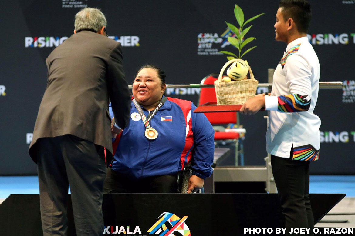 Philippine Sports News - Tiebreaker Times Cielo Honasan's golden heater continues; Adeline Dumapong-Ancheta delivers once again News Swimming Track & Field Weightlifting  Rosalie Terrefiel Prudencia Panaligan Cielo Honasan Cendy Asusano Adeline Dumapong-Ancheta 5th ASEAN Paralympic Games