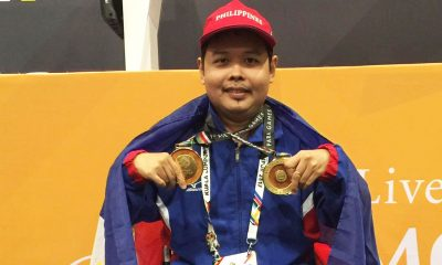 Tiebreaker Times Cendy Asusano, Sander Severino pick up golden trebles Basketball Chess News Swimming Track & Field  Sander Severino Henry Lopez Felix Aguilera Ernie Gawilan Cendy Asusano 5th ASEAN Paralympic Games