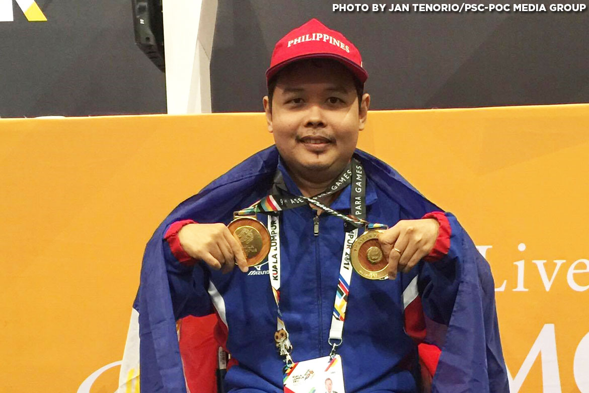 Philippine Sports News - Tiebreaker Times Cendy Asusano, Sander Severino pick up golden trebles Basketball Chess News Swimming Track & Field  Sander Severino Henry Lopez Felix Aguilera Ernie Gawilan Cendy Asusano 5th ASEAN Paralympic Games
