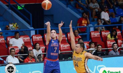 Tiebreaker Times Zach Nicholls' 'prayer shot' lifts Arellano past JRU in 2OT AU Basketball JRU NCAA News  Teytey Teodoro Rence Alcoriza NCAA Season 93 Seniors Basketball NCAA Season 93 Marwin Taywan Lervin Flores Kent Salado JRU Seniors Basketball Jed Mondoza Arellano Seniors Basketball Aaron Bordon