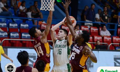 Tiebreaker Times Motivated Saint Benilde shocks Perpetual for the second time Basketball CSB NCAA News UPHSD  TY Tang Perpetual Seniors Basketball NCAA Season 93 Seniors Basketball NCAA Season 93 JJ Domingo Jimwell Gican Edward Dixon Clement Leutcheu Carlo Young Benilde Seniors Basketball