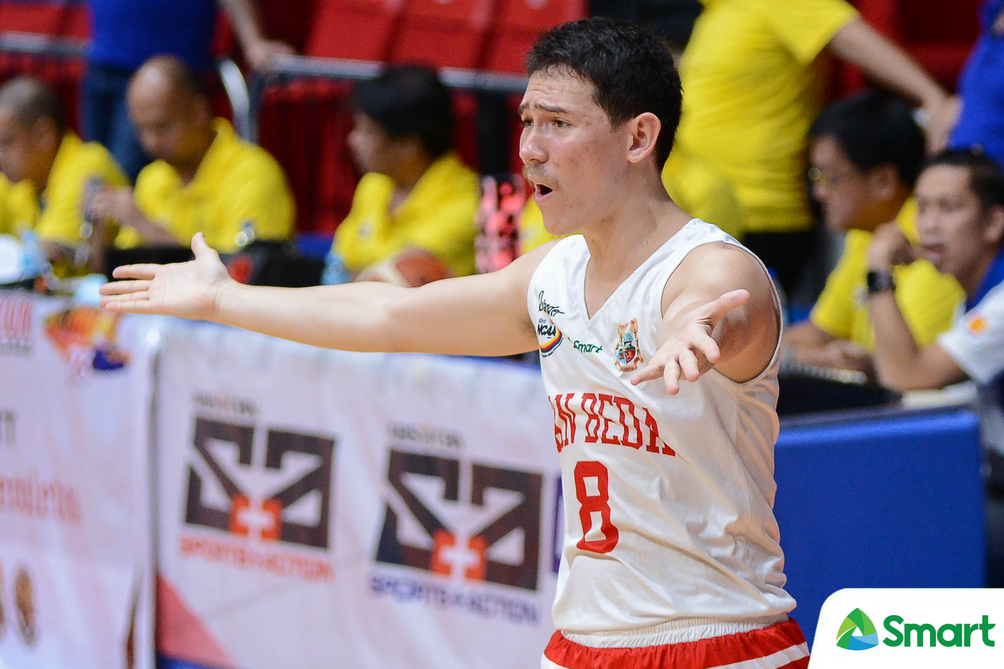 Tiebreaker Times NCAA suspends 3 players, Boyet Fernandez after San Beda-Saint Benilde scuffle Basketball CSB NCAA News SBC  San Beda Seniors Basketball Robert Bolick NCAA Season 93 Seniors Basketball NCAA Season 93 Clint Doliguez Carlo Young Boyet Fernandez Benilde Seniors Basketball