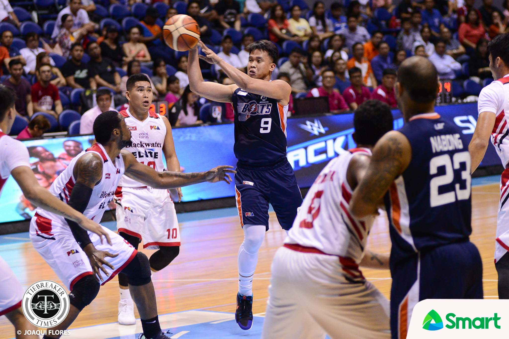 Tiebreaker Times More mature Baser Amer ready to lead Meralco to championship Basketball News PBA  PBA Season 42 Meralco Bolts Baser Amer 2017 PBA Governors Cup