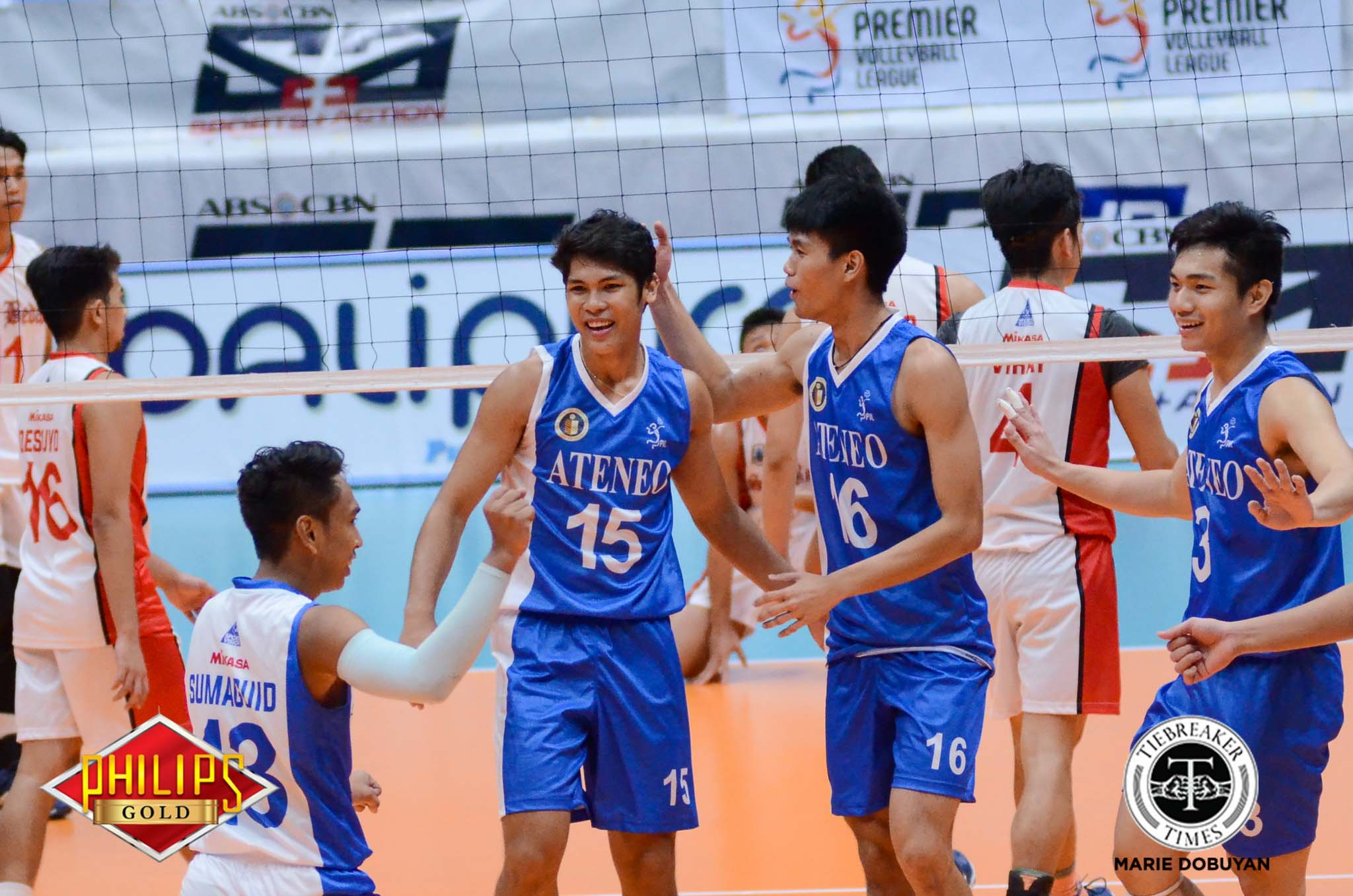 Philippine Sports News - Tiebreaker Times Marck Espejo, Ateneo continue to dominate ADMU CSB News PVL Volleyball  Saint Benilde Men's Volleyball Oliver Almadro Marck Espejo Manuel Sumanguid Janjan Rivera Ish Polvorosa Isaah Arda Ateneo Men's Volleyball Arnold Laniog 2017 PVL Season 2017 PVL Men's Collegiate Conference
