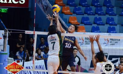 Tiebreaker Times Bulldogs end two-game slide at Tiger Spikers' expense News NU PVL UST Volleyball  UST Men's Volleyball Ricky Marcos Odjie Mamon NU Men's Volleyball MAnuel Medina Kim Dayandante Fauzi Ismail Dante Alinsunurin Bryan Baguan Arnold Bautista 2017 PVL Season 2017 PVL Men's Collegiate Conference