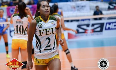 Tiebreaker Times Bernadeth Pons likely to miss rest of PVL conference FEU News PVL Volleyball  Heather Guino-o George Pascua FEU Women's Volleyball Bernadeth Pons 2017 PVL Women's Collegiate 2017 PVL Season