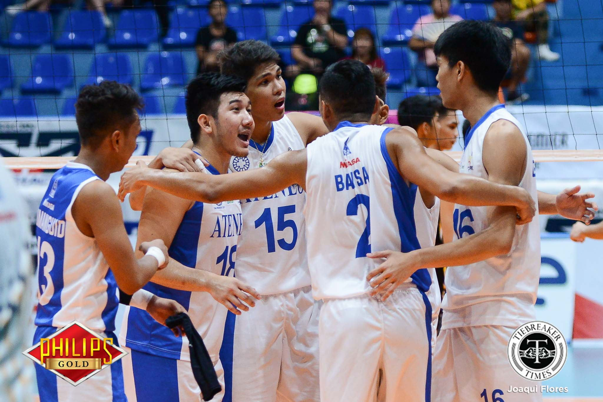 Philippine Sports News - Tiebreaker Times Espejo, Ateneo sweep UST to remain spotless ADMU News PVL UST Volleyball  UST Men's Volleyball Marck Espejo Manuel Sumanguid Joshua Umandal John Rivera Ish Polvorosa Ateneo Men's Volleyball 2017 PVL Season 2017 PVL Men's Collegiate Conference