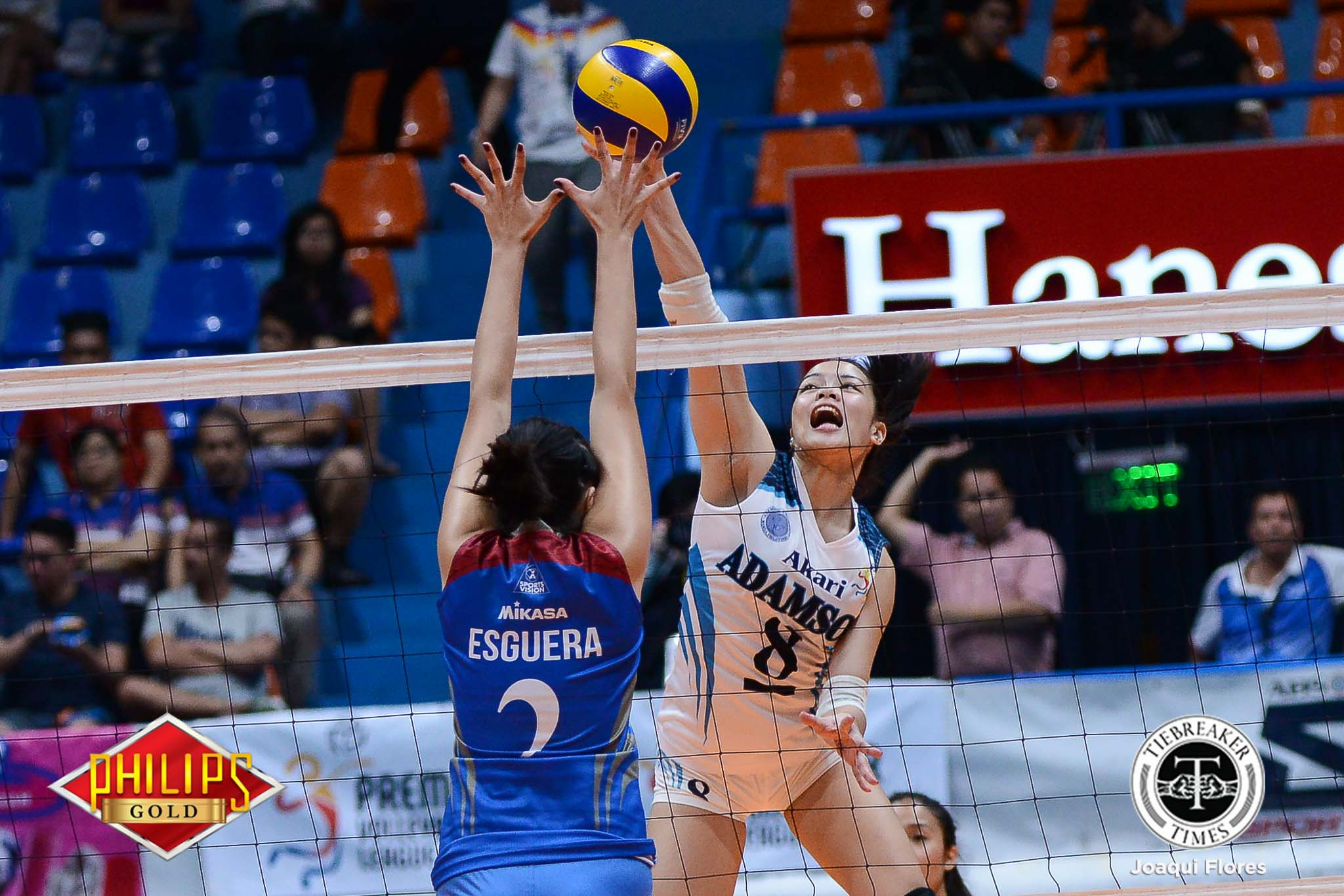 Philippine Sports News - Tiebreaker Times Adamson scores second straight win after dominant outing against Arellano AdU AU News PVL Volleyball  Thang Ponce Obet Javier Jovelyn Prado Jema Galanza Fhen Emnas Arellano Women's Volleyball Airess Padda Adamson Women's Volleyball 2017 PVL Women's Collegiate Conference 2017 PVL Season