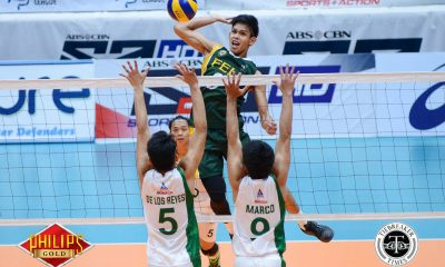 Tiebreaker Times Tamaraws roll to second straight win at Green Spikers' expense DLSU FEU News PVL Volleyball  Rikko Marmeto Richard Solis Rey Diaz Redijohn Paler Norman Miguel JP Bugaoan FEU Men's Volleyball DLSU Men's Volleyball Cris Dumago Arjay Onia 2017 PVL Season 2017 PVL Men's Collegiate Conference