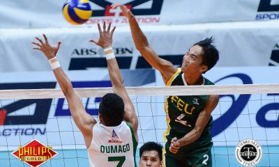 Tiebreaker Times Tamaraws keep Blazers winless, break into semis CSB FEU News PVL Volleyball  Saint Benilde Men's Volleyball Rikko Marmeto Richard Solis Rey Diaz Owen Bacani JP Bugaoan Jethro Orian FEU Men's Volleyball Cris Silang Arnold Laniog 2017 PVL Season 2017 PVL Men's Collegiate Conference