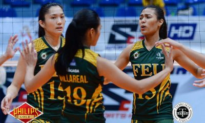 Tiebreaker Times Lady Tamaraws take solo lead, clobber Lady Stags FEU News PVL SSC-R Volleyball  Sofia Sarmiento San Sebastian Women's Volleyball Roger Gorayeb Kyle Negrito Heather Guino-o George Pascua FEU Women's Volleyball Celine Domingo Angelica Bautista 2018 PVL Women's Collegiate Conference 2018 PVL Season