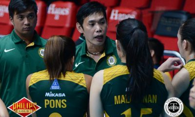 Tiebreaker Times Considering their situation, George Pascua satisfied with FEU's Game 1 showing FEU News PVL Volleyball  George Pascua FEU Women's Volleyball 2017 PVL Women's Collegiate Conference 2017 PVL Season