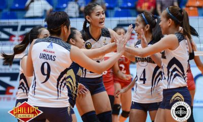 Tiebreaker Times Lady Bulldogs dominate Lady Pirates in Castillo's coaching debut LPU News NU PVL Volleyball  Rocelyn Hongria Risa Sato NU Women's Volleyball Lyceum Women's Volleyball La Rainne Fabay Jasmine Nabor Jaja Santiago Gayle Valdez Emil Lontoc Babes Castillo 2017 PVL Women's Collegiate Conference 2017 PVL Season