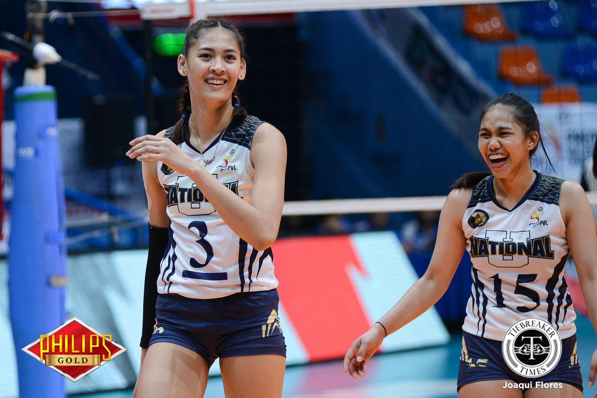 Philippine Sports News - Tiebreaker Times Jaja Santiago shows maturity by choosing NU again News NU PVL Volleyball  NU Women's Volleyball Jaja Santiago Babes Castillo 2017 PVL Women's Collegiate Conference 2017 PVL Season