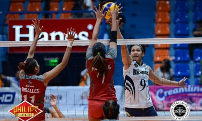 Tiebreaker Times Lady Bulldogs roll past Lady Stags for second win News NU PVL SSC-R Volleyball  San Sebastian Women's Volleyball NU Women's Volleyball Joyce Sta. Rita Jasmine Nabor Jaja Santiago Gayle Valdez Babes Castillo Aiko Urdas 2017 PVL Women's Collegiate Conference 2017 PVL Season