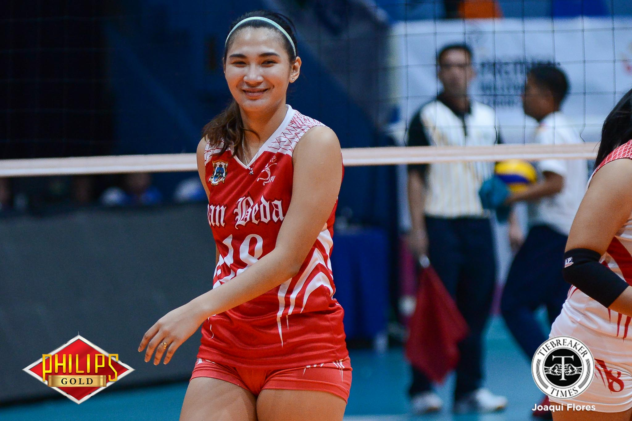 Tiebreaker Times San Beda Lady Red Spikers barge into third straight Final Four CSB JRU NCAA News SBC SSC-R Volleyball  Trisha Paras San Sebastian Women's Volleyball San Beda Women's Volleyball Saint Benilde Women's Volleyball Roger Gorayeb Nieza Viray Nemesio Gavino Jr. NCAA Season 94 Women's Vollleyball NCAA Season 94 Mia Tioseco Melanie Torres Klarisa Abriam JRU Women's Volleyball Joyce Sta. Rita Jerry Yee Jan Arianne Daguil Dolly Versoza Daryl Racraquin Cesca Racraquin