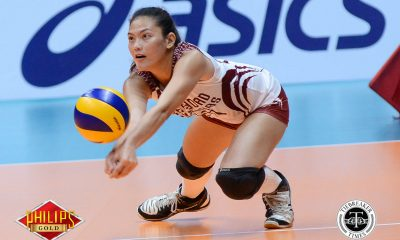 Tiebreaker Times UP opens campaign in style, sweeps Perpetual News PVL UP UPHSD Volleyball  UP Women's Volleyball Remelyn Altomea Perpetual Women's Volleyball Michael Carino Jowie Versoza Isa Molde Godfrey Okumu Ayel Estranero 2018 PVL Women's Collegiate Conference 2018 PVL Season