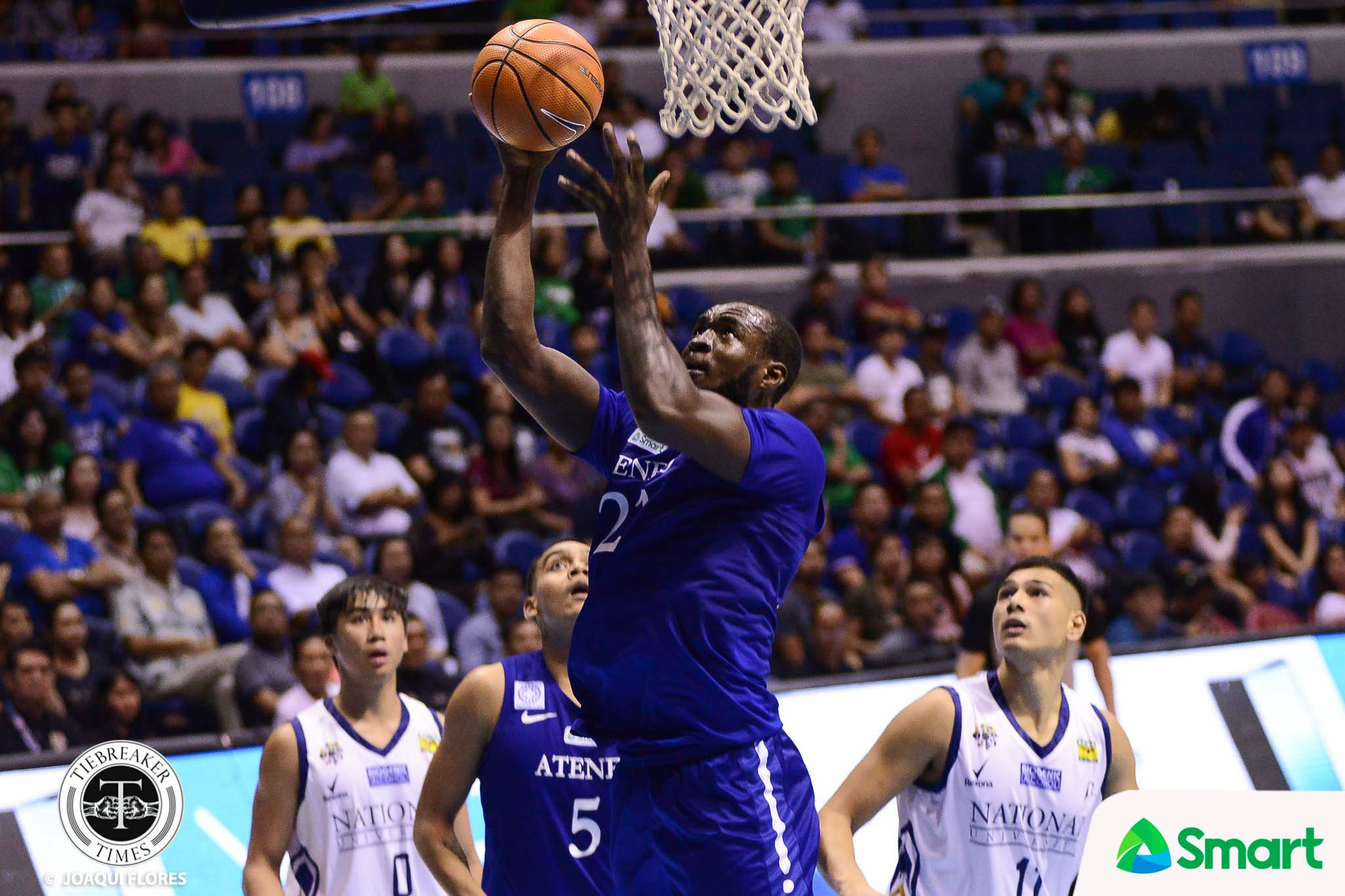 Tiebreaker Times Chibueze Ikeh becomes Ateneo's second SMART/Chooks Player of the Week ADMU Basketball News UAAP  UAAP Season 80 Men's Basketball UAAP Season 80 UAAP Player of the Week Ron Dennison Papi Sarr Chooks-to-Go Chibueze Ikeh Ateneo Men' Basketball Arvin Tolentino