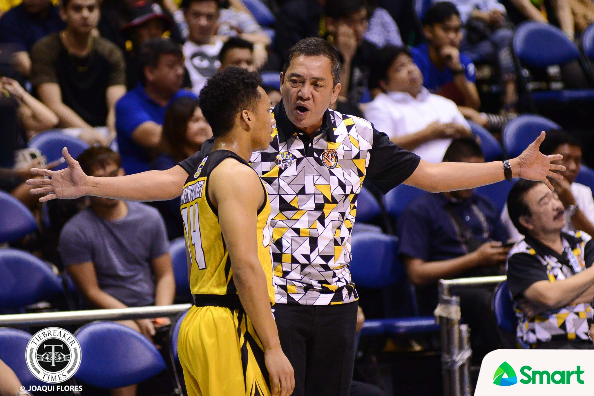 Philippine Sports News - Tiebreaker Times Boy Sablan beams after UST's gallant stand versus Ateneo Basketball News UAAP UST  UST Men's Basketball UAAP Season 80 Men's Basketball UAAP Season 80 Boy Sablan