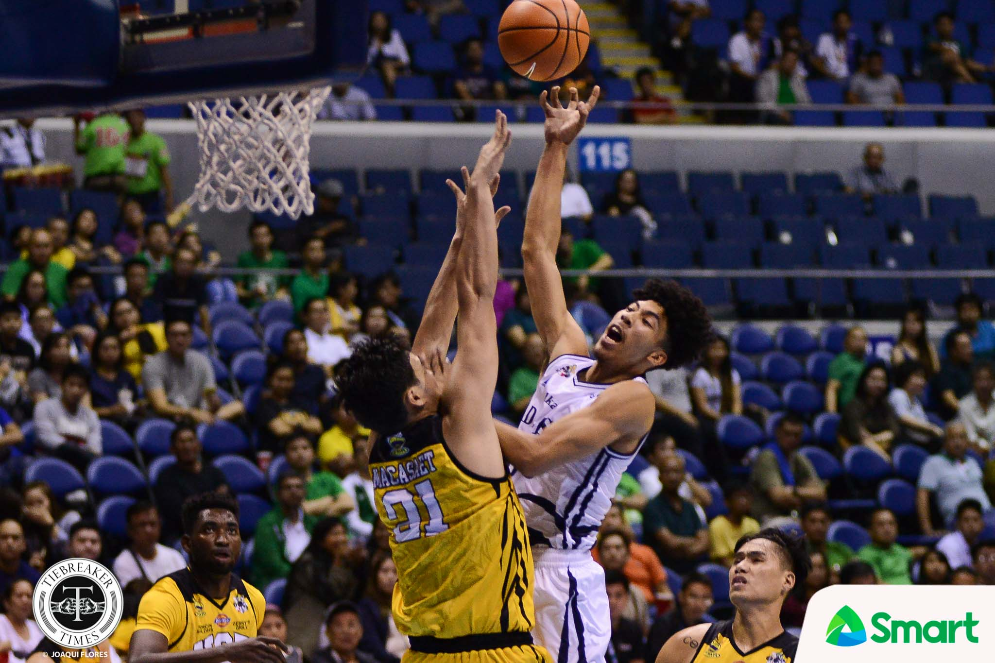 Philippine Sports News - Tiebreaker Times After throwing down best dunk so far, Hill now waiting on Manganti to follow suit AdU Basketball News UAAP  UAAP Season 80 Men's Basketball UAAP Season 80 Tyrus Hill Sean Manganti Adamson Men's Basketball