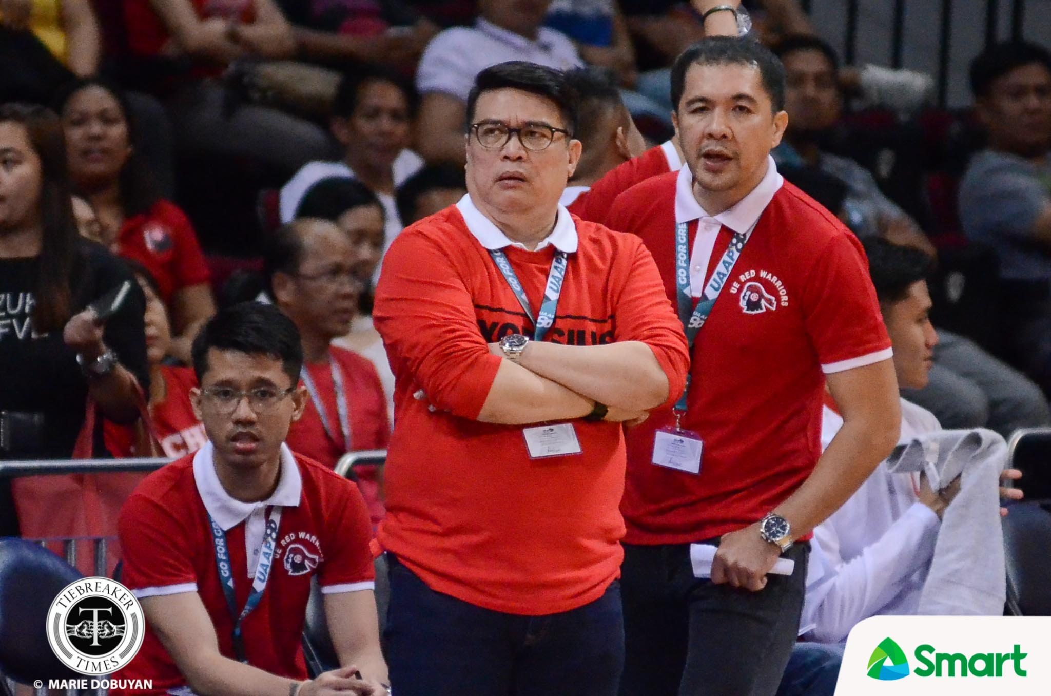 Philippine Sports News - Tiebreaker Times Derrick Pumaren hopes UE's effort against La Salle carries over in 'Finals' against UST Basketball News UAAP UE  UE Men's Basketball UAAP Season 80 Men's Basketball UAAP Season 80 Derrick Pumaren
