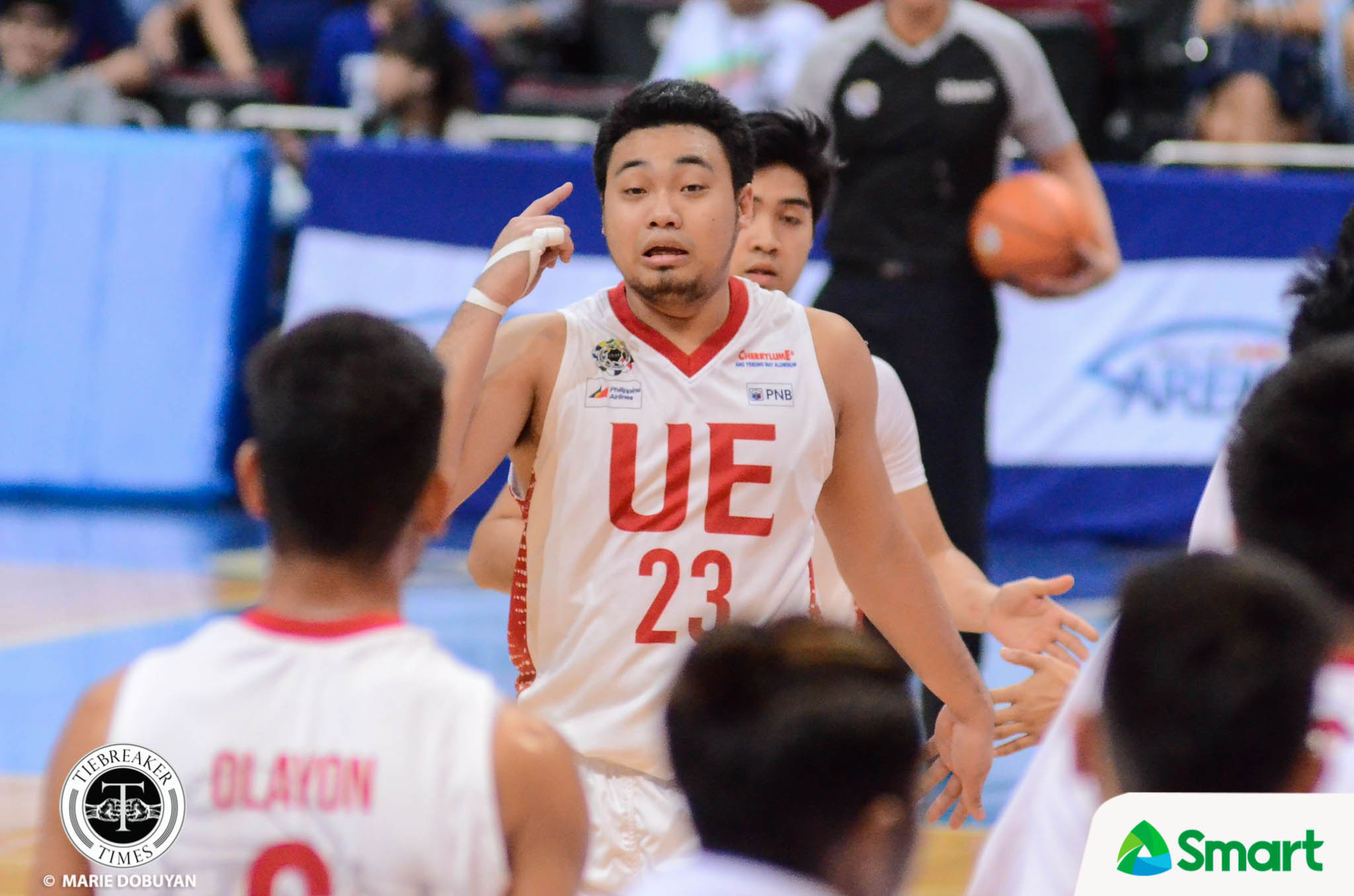 Philippine Sports News - Tiebreaker Times SMART/Chooks-to-Go Player of the Week Alvin Pasaol deflects credit to teammates Basketball News UAAP UE  UE Men's Basketball UAAP Season 80 Men's Basketball UAAP Season 80 Matt Nieto Jerrick Ahanmisi Chooks-to-Go Ben Mbala Alvin Pasaol