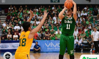 Tiebreaker Times Aljun Melecio, Green Archers hold off Tamaraws to punch first win Basketball DLSU FEU News UAAP  Wendell Comboy UAAP Season 80 Men's Basketball UAAP Season 80 Ron Dennison Prince Orizu Olsen Racela Kib Montalbo FEU Men's Basketball DLSU Men's Basketball Andrei Caracut Aljun Melecio Aldin Ayo