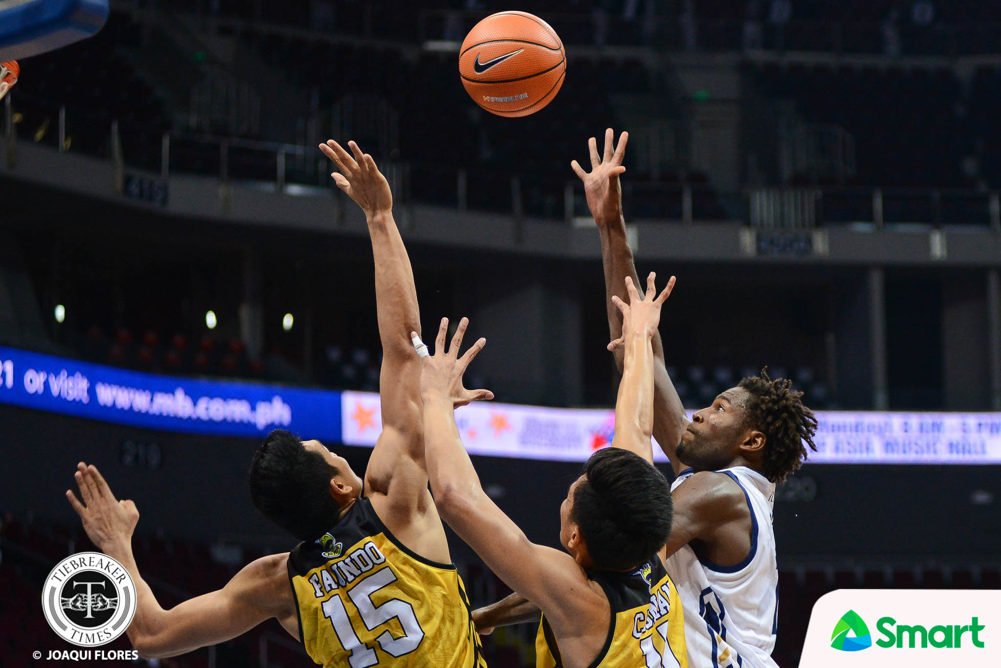 Tiebreaker Times NU outlasts UST in hard-fought game to bounce back Basketball News NU UAAP UST  UST Men's Basketball UAAP Season 80 Men's Basketball UAAP Season 80 Reggie Basibas NU Men's Basketball Jordan Sta. Ana JJay Alejandro Jamike Jarin Issa Gaye Dave Yu Chino Mosqueda Boy Sablan