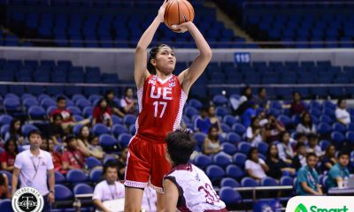 Tiebreaker Times Bienca Ramos and Joyce Francisco link up in third as UE stifles UP Basketball News UAAP UE UP  UP Women's Basketball UE Women's Basketball UAAP Season 80 Women's Basketball UAAP Season 80 Marian Domingo Love Sto. Domingo Kenneth Raval Joyce Francisco Daphne Esplana Bienca Ramos Aileen Lebornio