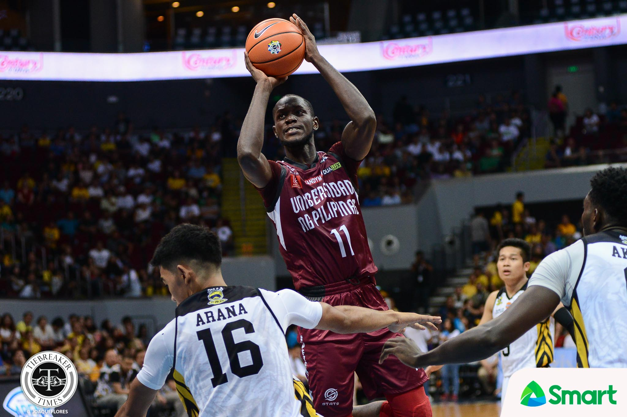Tiebreaker Times Ibrahim Ouattara doesn't mind if he's the stop-gap for Bright Akhuetie Basketball News UAAP UP  UP Men's Basketball UAAP Season 80 Men's Basketball UAAP Season 80 Ibrahim Ouattara Bright Akhuetie