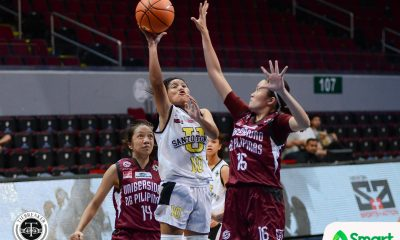 Tiebreaker Times UST slaps UP with 27-point rout to open season Basketball News UAAP UP UST  UST Women's Basketball UP Women's Basketball UAAP Season 80 Women's Basketball UAAP Season 80 Misaela Larosa Kenneth Raval Jhenn Angeles Iriss Isip Haydee Ong Daphne Esplana Bets Penaflor