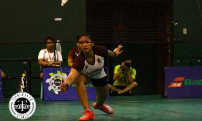 Tiebreaker Times Defending champ State U blasts UST for second straight win Badminton News UAAP UP UST  UST Women's Badminton UP Women's Badminton UAAP Season 80 Women's Badminton UAAP Season 80 Poca Alcala Pauline Santos Marina Caculitan Lea Inlayo Jessie Francisco Jeline Masongsong Ann Maranon