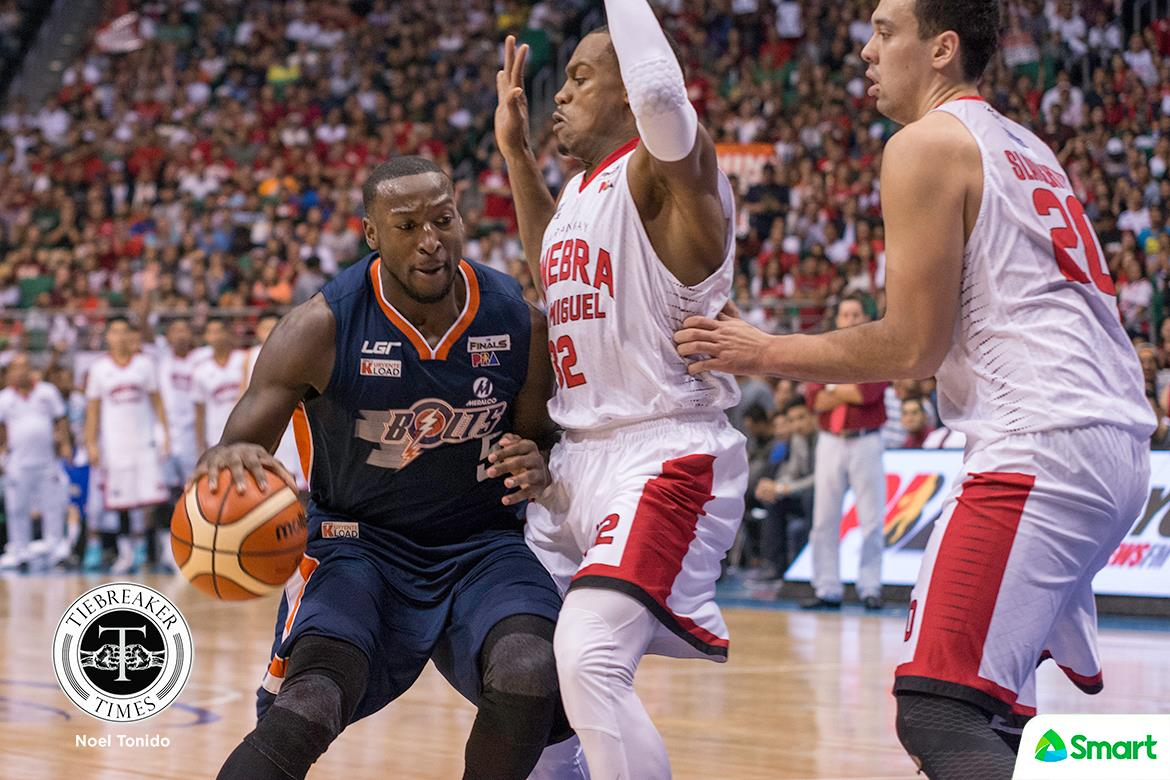 Philippine Sports News - Tiebreaker Times Chance to settle unfinished business looming for Allen Durham Basketball News PBA  PBA Season 42 Meralco Bolts Allen Durham 2017 PBA Governors Cup