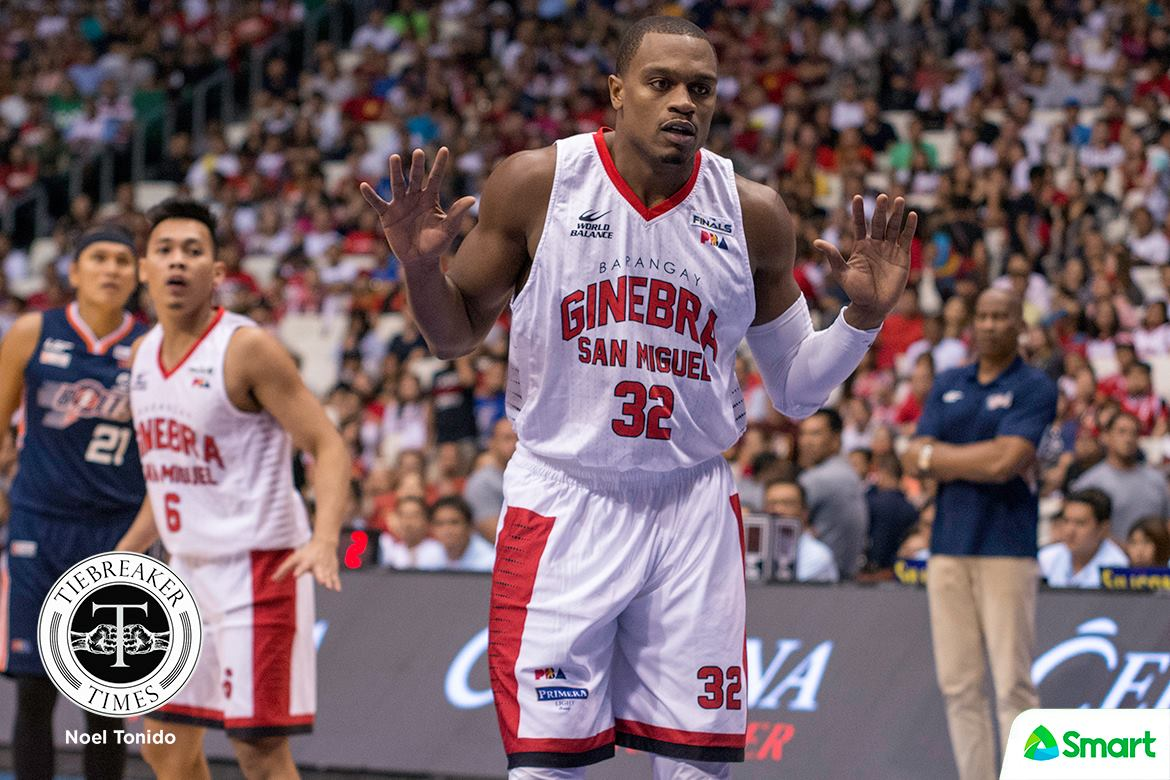Philippine Sports News - Tiebreaker Times Justin Brownlee set for much-awaited Barangay Ginebra return Basketball News PBA  PBA Season 43 Justin Brownlee Charles Garcia Barangay Ginebra San Miguel 2018 PBA Commissioners Cup