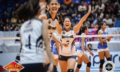 Tiebreaker Times Lady Bulldogs get late boost from NU drummers News NU PVL Volleyball  NU Women's Volleyball NU Pep Squad Jaja Santiago 2017 PVL Women's Collegiate Conference 2017 PVL Season