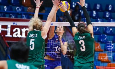 Tiebreaker Times Lindsay Stalzer, Hillary Hurley carry Petron past Sta. Lucia for second win News PSL Volleyball  Sta. Lucia Lady Realtors Shaq delos Santos Rhea Dimaculangan Petron Blaze Spikers Marisa Field Lindsay Stalzer Jerry Yee Hillary Hurley Bohdana Anisova 2017 PSL Season 2017 PSL Grand Prix