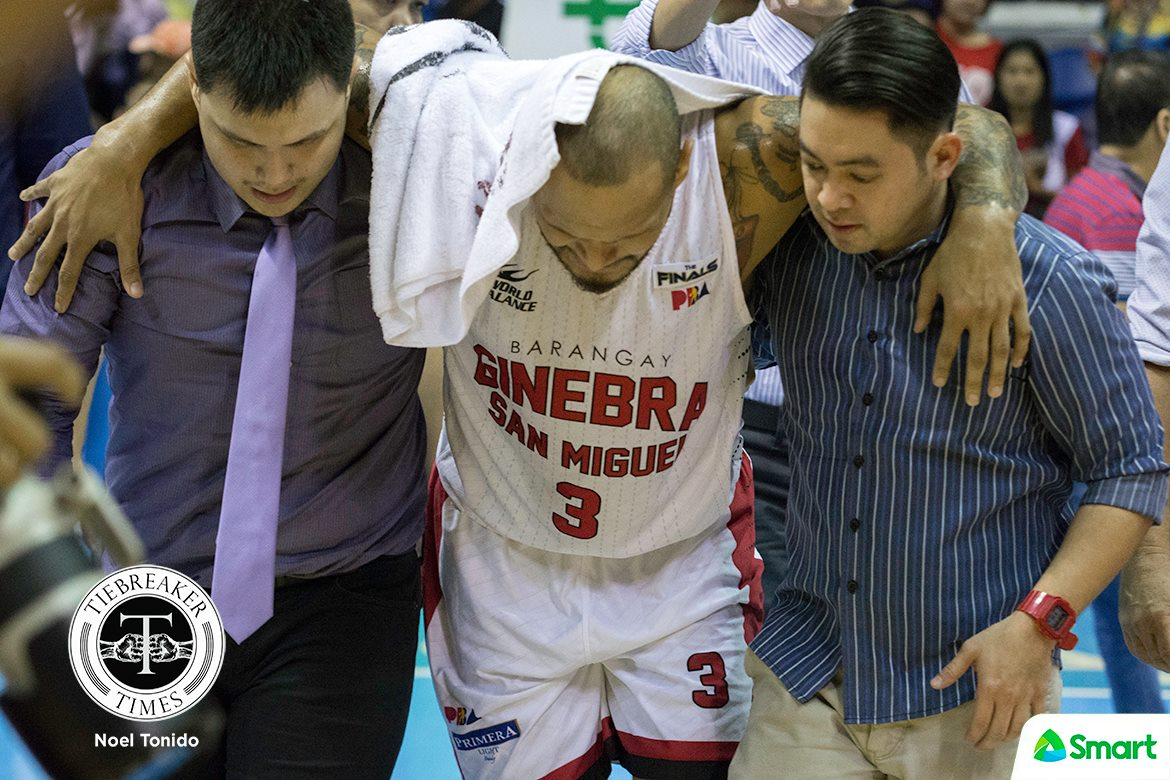 a4aef0c8d9 Tiebreaker Times Sol Mercado remains day to day after spraining left ankle Basketball  News PBA Tim