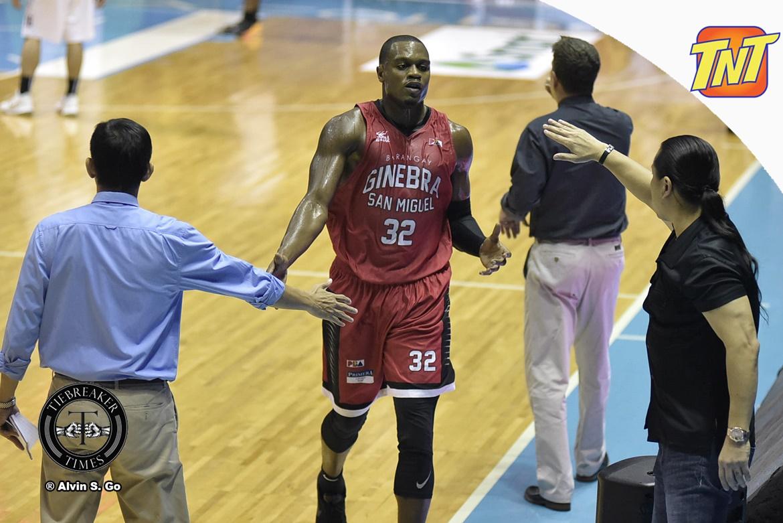 Philippine Sports News - Tiebreaker Times Justin Brownlee on kid in viral video: 'The kid got game' ABL Alab Pilipinas Basketball News PBA  Justin Brownlee Barangay Ginebra San Miguel