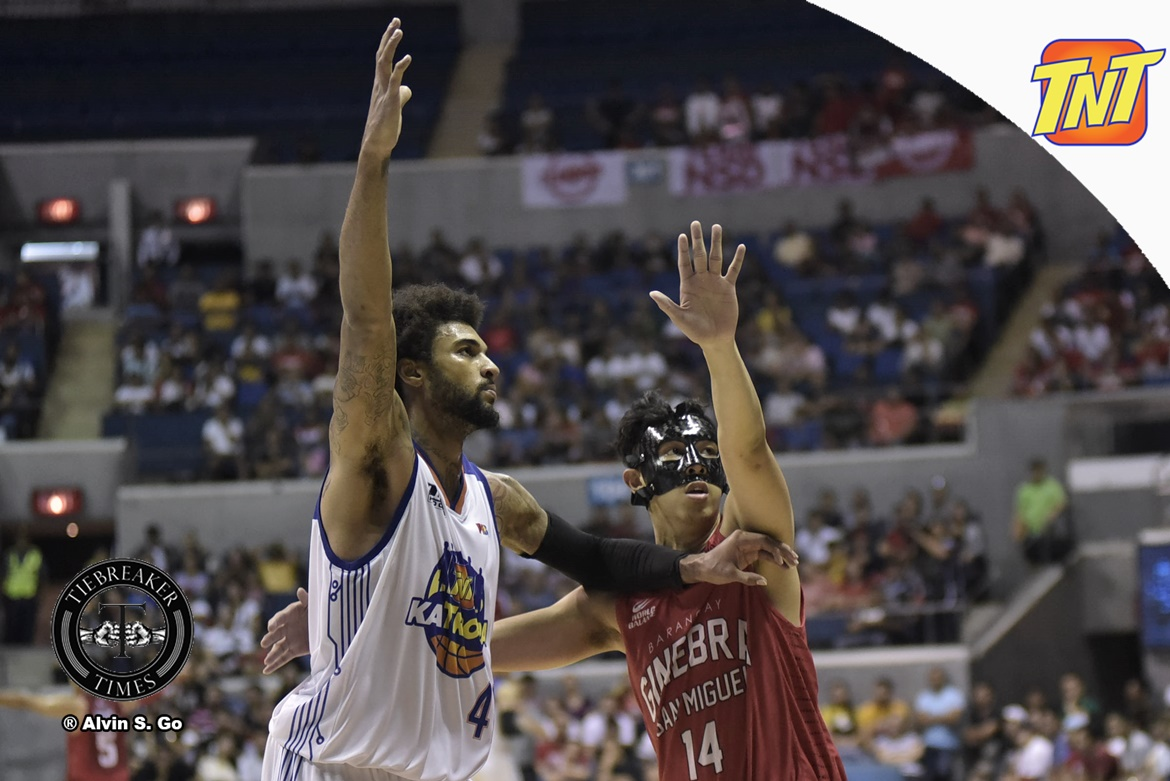 Philippine Sports News - Tiebreaker Times VIDEO: Frustrated Glen Rice Jr. leaves Game Four Basketball News PBA  TNT Katropa PBA Season 42 Glen Rice Jr. 2017 PBA Governors Cup